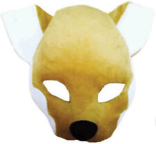 Fox Mask with Sound Fancy Dress Kids Adults Animal Book Week Costume Accessory