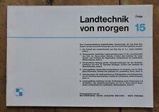 orig. Prospekt Schlüter Landtechnik von morgen Folge 15 Schlepper 32Seiten