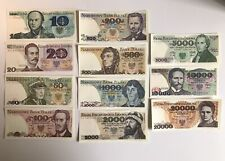 More details for poland unc 1980s banknote set 10-20,000 zloty inflation period p-142 to p-152