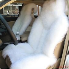 Premium Quality Australian Sheep Skin white  Long Wool Car Front Seat Cover