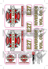 Fire Truck Sticker Set, RC Car Decal, MYK-ST2
