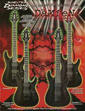 The Schecter Damien EX FR 6 7 string guitar ad 8 x 11 advertisement print