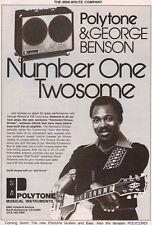 1979 #1 TWOSOME GEORGE BENSON IN A POLYTONE AMP AD