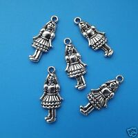 5 x Tibetan Silver Girl Charms Pendant Alice in Wonderland