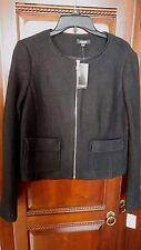 Premise Black Zip Long Sleeve Blazer Jacket Size Large