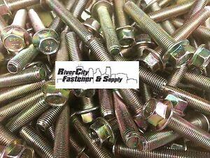 (50) M10-1.25 x 60 or M10x60 10mm x 60mm J.I.S. Small Head Hex 10.9 Yellow Zinc