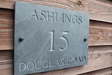 Natural Slate Deep Engraved House Door Sign Plaque 35cm x 25cm Any Font