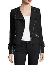 Veronica Beard Jordan Collarless Moto Jacket Size = 10 NWT STUNNING MADE IN USA