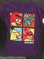 NWT Girls NEW Angry Birds Shirt Size 6 purple top birthday