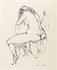 FRITZ CREMER - Sitzender Rückenakt - Lithografie 1984