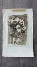 Bernard Dufour Etching #2 - French Midcentury Abstract Artist - Signed