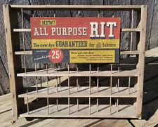 Original Antique All Purpose Rit Fabric Dye Store Advertising Display Rack Stand