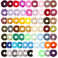 65 Pack Hair Scrunchies Velvet Scrunchy Bobbles Elastic Hair Bands Holder UK