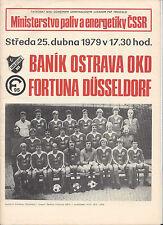 Halbfinale POKALSIEGER CUP: BANIK OSTRAU - FORTUNA DÜSSELDORF 25.04.1979