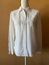Equipment White 100% Silk Long Sleeve Button Down Blouse Shirt Top Size XS