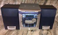 Aiwa NSX-AJ100 Audio System 3 CD/Radio/AUX/Dual Cassette Player-RARE-SHIP N24 HR