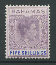 Bahamas SG156b 1942 5s Purple and blue (ordinary paper) Mounted mint