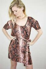 WITCHERY Silk ANIMAL PRINT Sash Belt DRAPEY DRESS New Tags $190 XS / 8