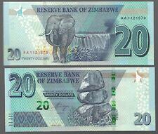 ZIMBABWE 20 DOLLARS, 2020, P-NEW, NEW HYBRID NOTE - AA PREFIX //NEW RELEASE//