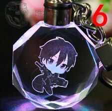 Sword Art Online rizubetto Crystal Key Chain LED light Pendant PO111 GIFT