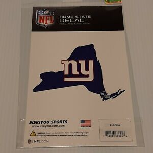 Official NEW YORK GIANTS NFL Home State Auto Sticker Window Vinyl Decal