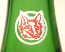 vintage SODA pop  BOTTLE  green RED FOX of PROVIDENCE, R.I.  - 7  oz ACL