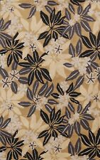 Nature Print Contemporary Oriental Area Rug Wool Modern Hand-Tufted 5x8 Carpet
