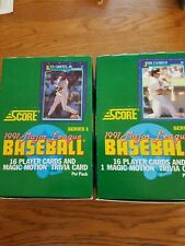 (2) 1991 MLB Score Series 1 Baseball Wax Boxes - 72 packs