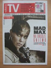 CHARLIZE THERON / MAD MAX on front cover Polish Magazine WYBORCZA TV
