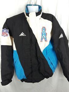 Vintage 90s Houston Oilers Jacket Size Medium Apex One NFL Football Pro Line