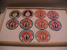 LOT /10 DETROIT MICHIGAN NEWS 1977-1987 YOUTH HUNTER SAFETY GUN HUNTING PATCHES