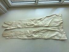 Vintage Edwardian Women's Ivory Kid Leather Opera Gloves