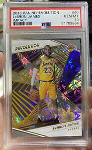 2018 Panini Revolution Impact LeBron James PSA 10 Gem Mint Lakers NBA Card #40