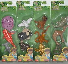 NEW FISHER PRICE NICKELODEON GO DIEGO GO RESCUE ANIMAL FIGURE PACKS SET OF 4