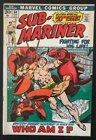 Sub-Mariner #50 1972 first printing original Marvel Comic Book 1st Namorita
