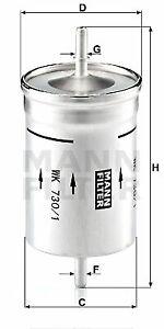 Mann-filter Fuel filter WK730/1 fits VW BEETLE 9C1, 1C1 2.0 1.8 T 1.6