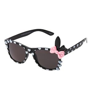 Girls Black Bunny Bow Sunglasses Classic  Childrens Kids Sunglasses Shades UV400