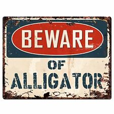 PP1501 Beware of ALLIGATOR Plate Rustic Chic Sign Home Room Store Decor Gift