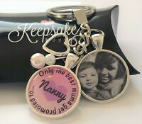 Personalised Photo Keyring - Best Mums Promoted to - Christmas Present Gift Box