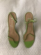 Gina London Women's Lime Green leather Strappy Sandals High Heels Size 9.5