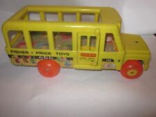 1965 Fisher Price School Bus Pull Toy #192 Made In USA