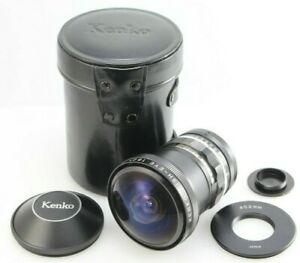 Kenko Fish-Eye 180 degree C-mount conversion lens with 52mm adapter & case