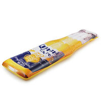 Summer Waves Corona Inflatable Beer Bottle Swimming Pool Float, Yellow/Blue