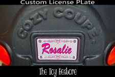 Replacement Decals fits Little Tikes Coupe Car Custom Number Plate Princess Lace