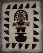 "Alpaca Fur Rug/Wall-hanger Blanket ""Tumi"" Figure  54"" x 43"" Handmade in Peru"