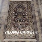 300 Lines 3'x5' Handmade Silk Tapestry Goddess of Moon Mystical Carpet 955H