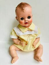 """Vintage 1960s-era 18"""" Unmarked Baby Boy Doll Curly Molded Hair Curls"""
