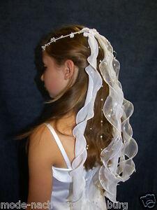 Kommunion Kopfschmuck Haarschmuck Haargesteck Haarkranz z. Kommunionkleid *2