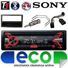 Vauxhall Meriva A 02-05 Sony Auto Stereo Cd MP3 USB Bluetooth y NEGRO KIT FASCIA