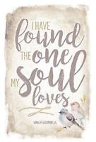 "NEW Dexsa I Have Found The One My Soul Loves 6""x9"" Wood Plaque with Easel DX8789"